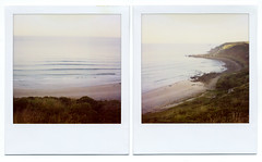 . (Rebecca...) Tags: uk autumn film lines polaroid dawn cornwall surf gwenvor 779filmwithblendfilter roidweek2010 polaroidsx70alphaone ifonlyeverydaycouldbelikethis