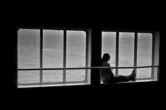 Isolation. (Ian McWilliams.) Tags: sea window ferry relax solitude tears alone loneliness sad help northsea morbid isolation lonely cry gaze loner solitaryconfinement seclusion dfds leavemealone ekantvass