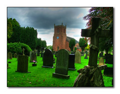 The Dead In Christ Shall Rise... (mliebenberg) Tags: old trees church stone graves lancashire churchyard hdr stmarys ecclestone hdrphotography hdrphotos markliebenberg markliebenbergphotography