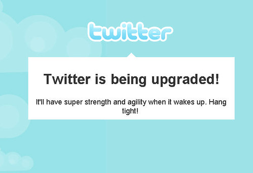 Twitter being upgraded?