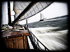 sea ride II (Paul Petruck) Tags: longexposure water netherlands bravo sails experiment pirate swirl draganized superhearts seenintheinterestingnessarchives ijsselsea sailingonthejade