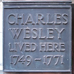 Charles Wesley Lived Here