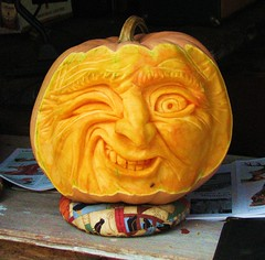 Funny carved Pumpkin (klg1309) Tags: blue portrait orange festival cat pumpkin kitten artist farm kitty carving calico cannon carver s3 anawesomeshot frhwofavs onlythebestare colourartaward malcome