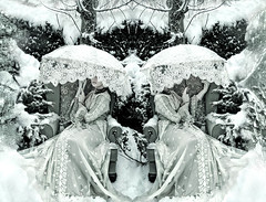 Wonderland : The Box of Delights (Kirsty Mitchell) Tags: snow girl fairytale forest self woods lace magic victorian surrey fantasy parasol wonderland storybook makeawish kirstymitchell andnowalittlemakebelieve