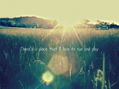 """Fields of Grace."" (heyFilbert) Tags: travel trees sunset sun love nature field vintage scenery peace play place quote kentucky run grace retro spots dreamy magical flair sunspots flatwoods"