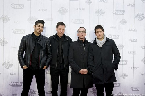 Billy Talent - 2010 Juno Awards Red Carpet by Sandra Elford.