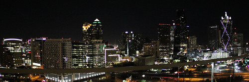 Fisheye Dallas Skyline