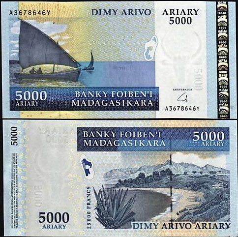 5000 Ariary Madagaskar 2006
