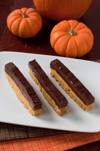 Pumpkin Twix Bars