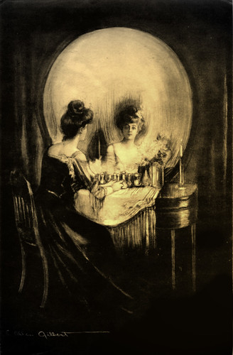 Victorian Woman at Vanity?