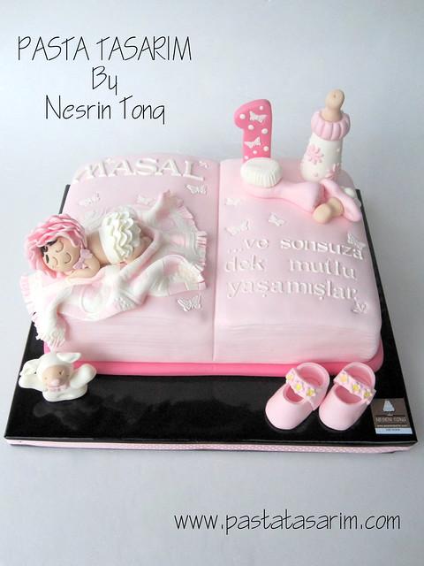 1ST BIRTHDAY CAKE - MASAL (storybook cake)