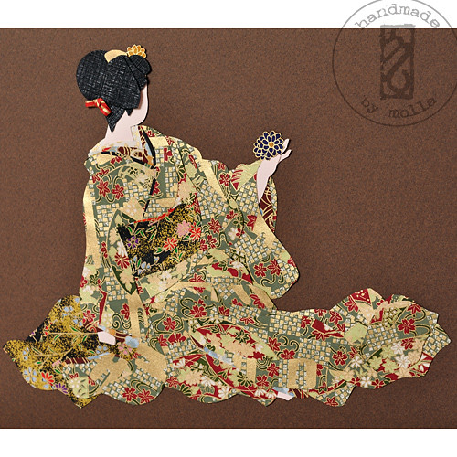 Geiko with kiku kanzashi2