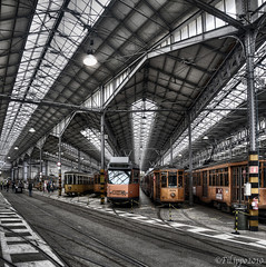 Tram (Fil.ippo) Tags: milan raw trolley milano garage tram hdr filippo messina topaz deposito d5000 expo2015 sottoilcielodimilano superstarthebest febbraio2011challengewinnercontest