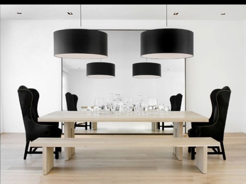 modern-dining-room with benches