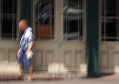 man on Decatur (tgbusill) Tags: painterly blur experiments october neworleans tourist hopper 2010 intentionalblur hopperesque manonthestreet photoimpressionism