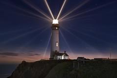 24 Points of Light (Matt Grans Photography) Tags: california longexposure lighthouse night photoshop stars twilight dusk halfmoonbay sanmateo pigeonpoint