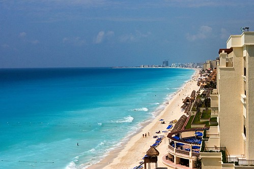 Vista de las playas de Cancun