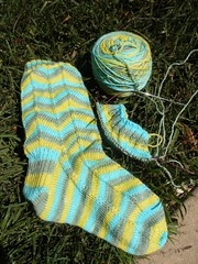 WIP: Knit and Tonic Jaywalkers