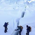 Blind Climber Crosses Crevasses