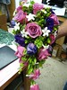 purple flowers purple bouquet wedding photo