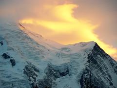 Sunset (Jean-Clment Mass) Tags: light sunset sky snow france mountains alps rock clouds chamonix