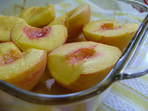 Vanilla Roasted Peaches