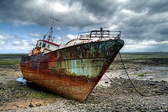 Trawler on Roa Island Causeway (Bay Photographic) Tags: uk sea england sky beach water clouds landscape island boat fishing rust cumbria wreck morecambe hdr trawler barrow causeway vitanova roa furness barrowinfurness supershot roaisland diamondclassphotographer flickrdiamond photofaceoffwinner photofaceoffplatinum bayphotographic pfogold winnerbc