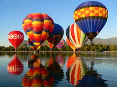 Balloon Classic; Labor Day (ladyloneranger) Tags: lake colors reflections bravo hotairballoons memorialpark coloradospringsco magicdonkey i500 ladyloneranger colorphotoaward diamondclassphotographer 31stannual coloradospringsballoonclassic07 interestingness103sept07