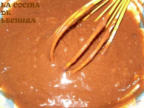 Pastel choco-naranja mezcla