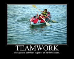 Cheesy Teamwork Poster