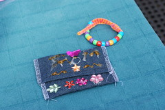 My new wallet and bracelet, made by Leah