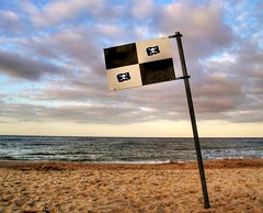 Pirates of the baltic sea (Batram) Tags: sea blackandwhite beach sign island baltic pirate ostsee scull crossbones usedom arrrr aarrrgh talklikeapirate pirateday anawesomeshot