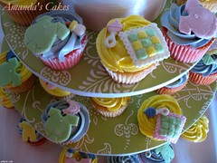 Baby Telia Rae Cupcakes (mandotts) Tags: birthday pink baby green yellow cupcakes lavender babygirl cupcake babyshower babycakes babyshowercake minicupcake minicupcakes babyshowercupcakes