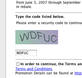 CAPTCHA image with the letters WDFUC