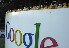 The duckies invade Google by Yodel Anecdotal, on Flickr