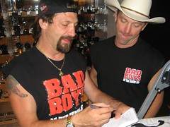John and Andy Hillstrand of Deadliest Catch sign an autograph
