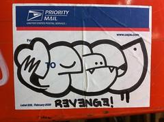 revenge (SF_SCUM) Tags: streetart graffiti oakland sticker revenge graff eee