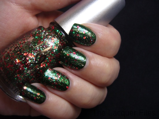China Glaze Jolly Holly Party Hearty 'Tis the season to be naughty and nice holiday 2010