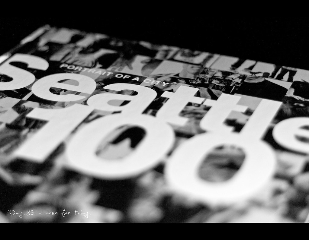 Day 83, Project 365, Bokeh, 083/365, project365, Chase Jarvis, Seattle 100, Portrait of a City, Book, Black and White