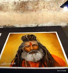Rangoli Exhibition - Sadhu Baba (Raju Bist) Tags: thane rangoli newgirlsschool diwali2010 rangvalli