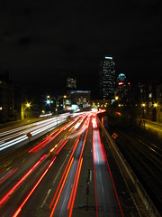 Zoom (historygradguy (jobhunting)) Tags: road street cars boston night ma highway traffic massachusetts newengland winner lighttrails mass masspike massachusettsturnpike lightstreams bostonist herowinner