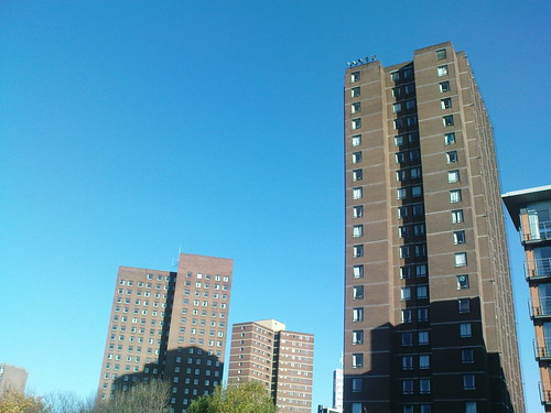 Old student towers at Aston University
