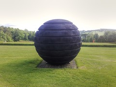 Black Sphere 2004 by David Nash. Yorkshire Sculpture Park West Bretton Yorkshire (woodytyke) Tags: black sphere 2004 david nash yorkshire sculpture park west bretton art artist ysp grass england english woodytyke uk britain british burnt charred round green carved grooved groove sculptor riding wakefield trees lawn exibit exhibition landscape scenery display isles united kingdom stephen woodcock photo flickr photographer photograph picture image digital camera phone colour color country national foto best 1 2 3 4 5 6 7 8 9 10 composition light