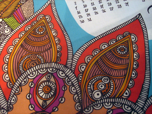 Hello 2011 Tea Towel Calendar details 02