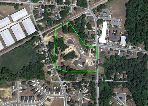 site of Builders of Hope project in Fuquay-Varina, NC (via Google Earth)
