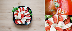 (frischmilch) Tags: morning red italy food white green breakfast tomato table lunch italian natural diner delicious basil mozzarella diptychon triptychon ci33 anawesomeshot