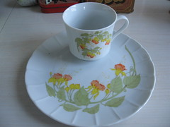 P is For Pretty Teacup and Saucer