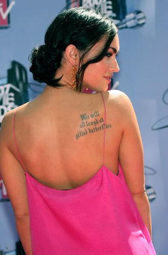 tatuaje de la espalda Megan Fox