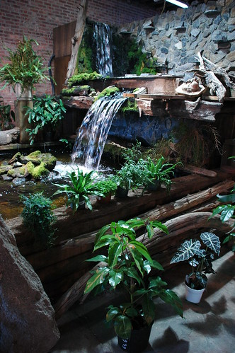Indoor Waterfall, Liberty Sunset Garden Center