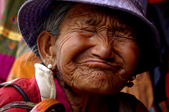 Funny old lady (Desired) Tags: travel portrait woman expression tibet desire lhasa bachspicgallery